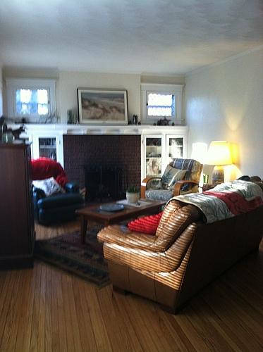 Living room of 129 Bulkey in Kalamazoo, Michigan.