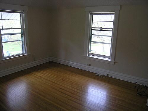Bedroom at 139 Bulkley in Kalamazoo, Michigan.