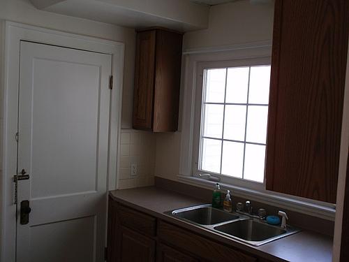 Kitchen at 143 Monroe in Kalamazoo, Michigan.