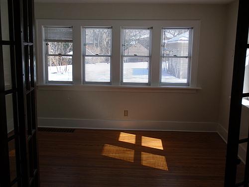 Sunroom at 143 Monroe in Kalamazoo, Michigan.