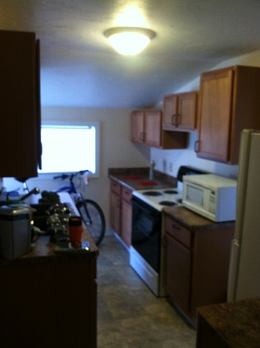 Kitchen at 402 Stanwood apartment 1 in Kalamazoo, Michigan.