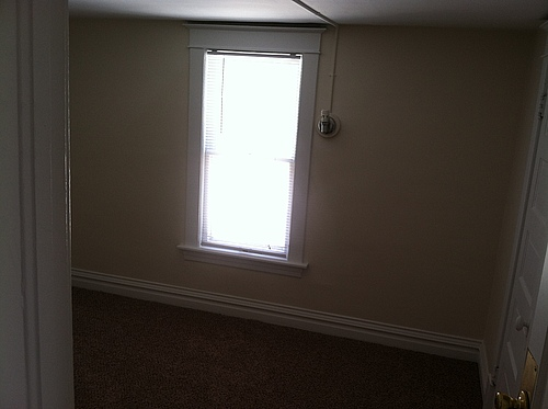 A bedroom at 408 Stanwood in Kalamazoo, Michigan.