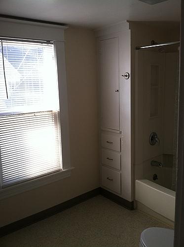 Full bathroom at 408 Stanwood in Kalamazoo, Michigan.