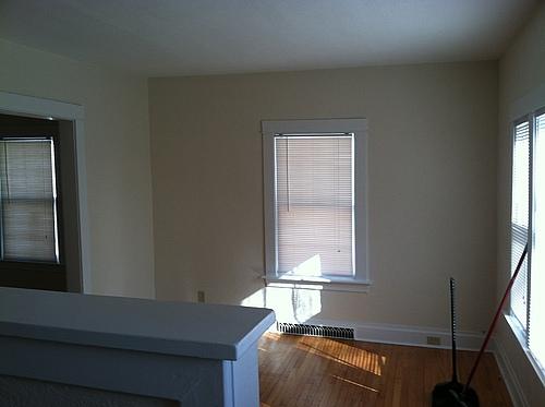 Living room at 408 Stanwood in Kalamazoo, Michigan.