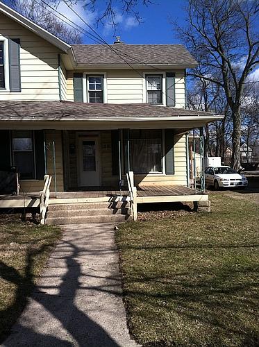 Street view at 818 Academy in Kalamazoo, Michigan.