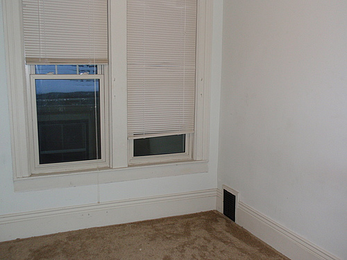 Bedroom at 820 Academy apartment 3 in Kalamazoo, Michigan.