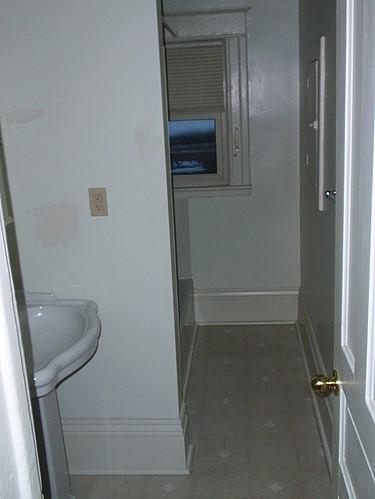 Bathroom at 820 Academy apartment 3 in Kalamazoo, Michigan.