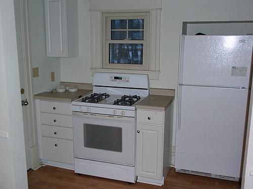 Kitchen at 820 Academy apartment 3 in Kalamazoo, Michigan.