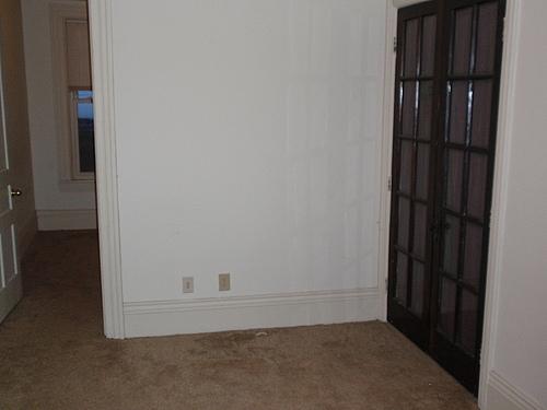 Living room at 820 Academy apartment 3 in Kalamazoo, Michigan.