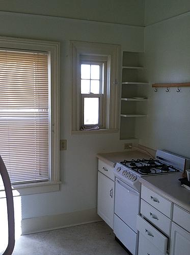 Kitchen at 820 Academy apartment 2 in Kalamazoo, Michigan.